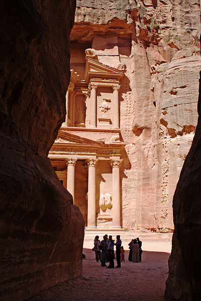The Siq entrance to petra